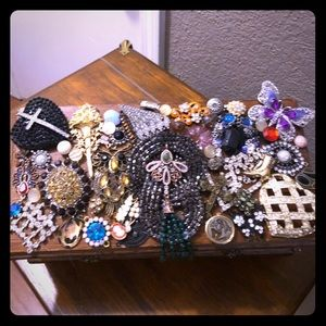 Vintage decorated jewelry box $60